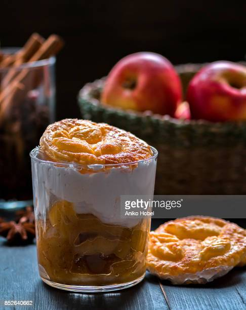 Apple pie in a glass