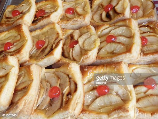 Apple pie pastries in a Street Shop