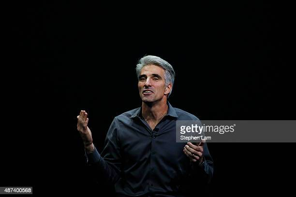 Apple Senior Vice President of Software Engineering Craig Federighi speaks about 3D Touch during a Special Event at Bill Graham Civic Auditorium...