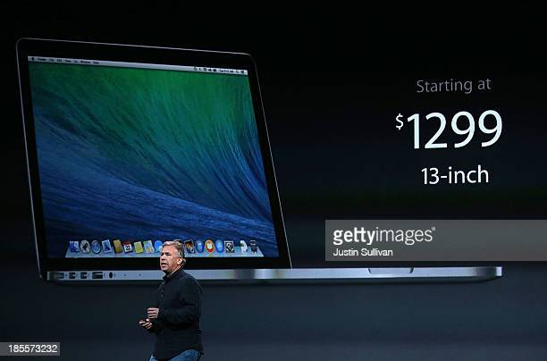 Apple Senior Vice President of Worldwide Marketing at Phil Schiller speaks during an Apple announcement at the Yerba Buena Center for the Arts on...