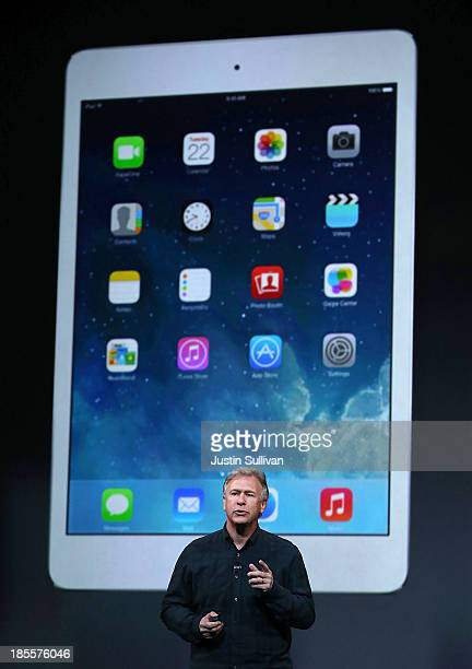 Apple Senior Vice President of Worldwide Marketing at Phil Schiller speaks on the new iPad Mini during an Apple announcement at the Yerba Buena...