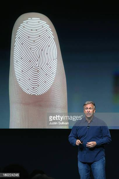 Apple Senior Vice President of Worldwide Marketing Phil Schiller speaks about security features of the new iPhone 5S during an Apple product...
