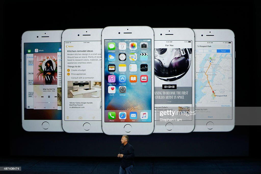 Apple Unveils New Versions Of iPhone 6, Apple TV : News Photo