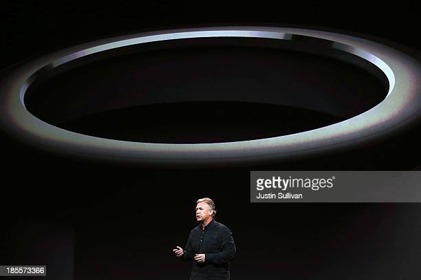 Apple Senior Vice President of Worldwide Marketing Phil Schiller announces the new Mac Pro during an Apple announcement at the Yerba Buena Center for...