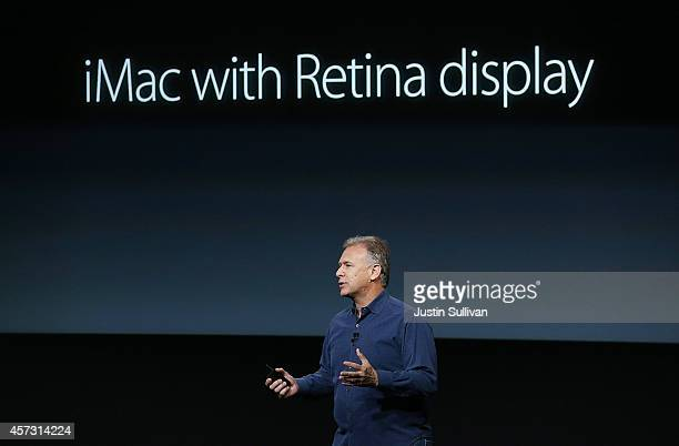 Apple Senior Vice President of Worldwide Marketing Phil Schiller announces the new iMac with 5k retina display during a special event on October 16...
