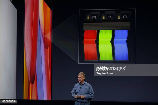 Apple Senior Vice President of Worldwide Marketing Phil Schiller announces the new MacBook during an Apple special event at the Yerba Buena Center...