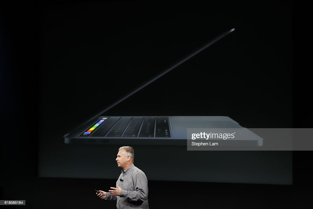 Apple Senior Vice President of Worldwide Marketing Phil Schiller introduces the all-new MacBook Pro during a product launch event on October 27, 2016 in Cupertino, California. Apple Inc. is expected to unveil the latest iterations of its MacBook line of laptops