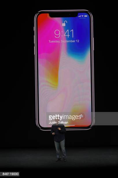 Apple Senior Vice President of Worldwide Marketing Phil Schiller introduces the new iPhone X during an Apple special event at the Steve Jobs Theatre...