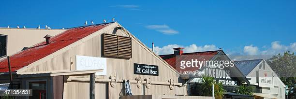 Apple Shed Roofs, Mapua Wharf, Tasman Region, New Zealand
