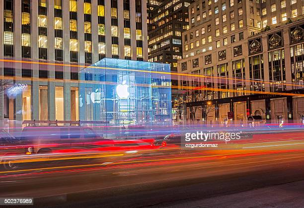 Apple Store at Night in New York