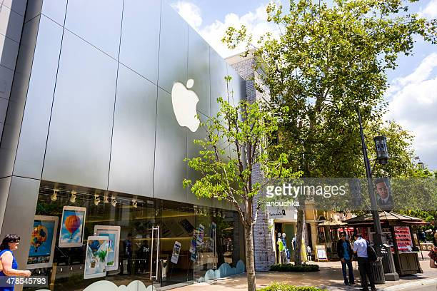apple store at the grove, los angeles - the grove los angeles stock pictures, royalty-free photos & images