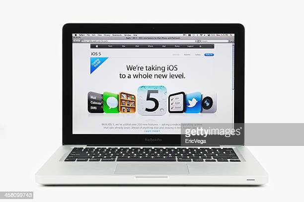 Apple Store featuring iOS Five on MacBook Pro