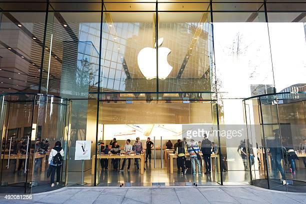 Apple Store in Beijing Central Business district, Beijing.
