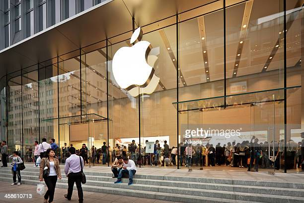 apple store en china - editorial fotografías e imágenes de stock