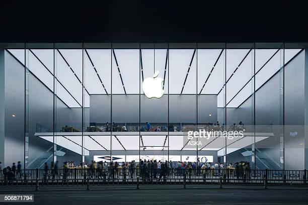 apple store na china - apple computers - fotografias e filmes do acervo