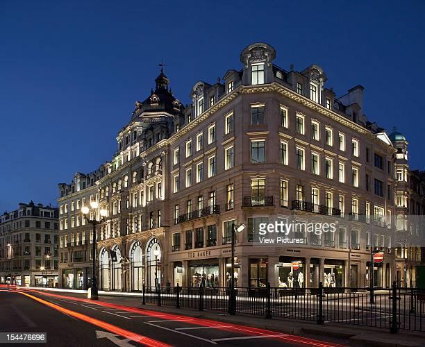 Apple Store London United Kingdom Architect Gensler Apple Store Twilight Exterior