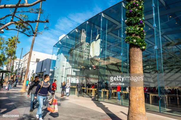 Apple Store auf der Third Street Promenade, Santa Monica, USA