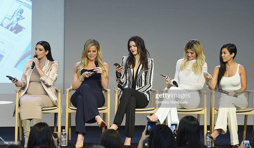 Apple Store Soho Presents Meet The Developers: Kim Kardashian, Kourtney Kardashian, Khloe Kardashian, Kendall Jenner & Kylie Jenner : News Photo