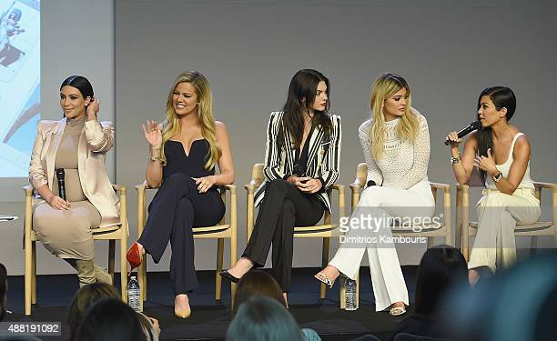 Apple Store Soho Presents Meet The Developers Kim Kardashian Khloe Kardashian Kendall Jenner Kylie Jenner and Kourtney Kardashianat attends the Apple...