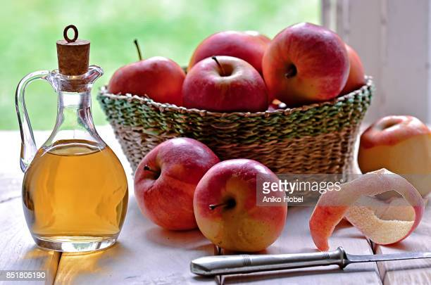 apple vinegar - apple event stock photos and pictures