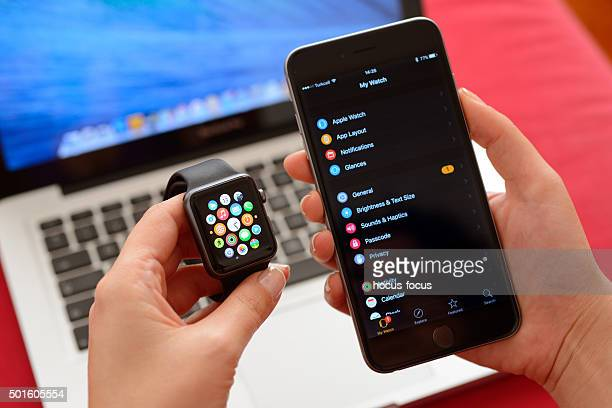 Apple Watch and iPhone My Watch screen