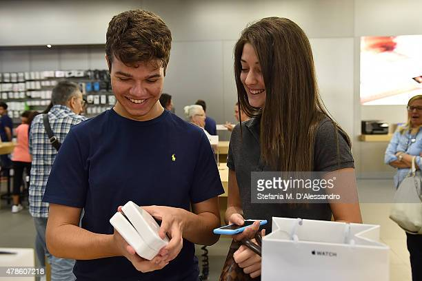 Apple Watch is now available in seven more countries at Apple Store Fiordaliso on June 26 2015 in Milan Italy