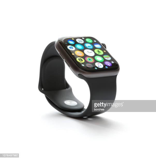 apple watch serie 4 - part of a series stockfoto's en -beelden
