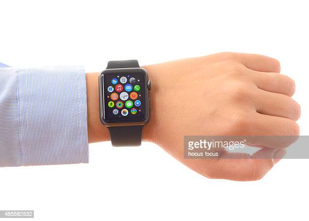 Apple Watch Sport on a wrist