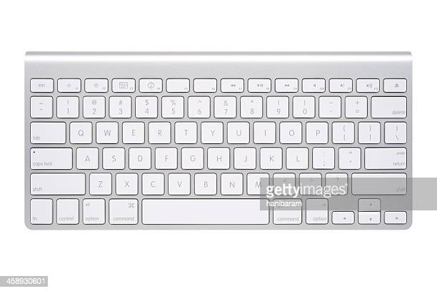 apple wireless keyboard - computertoetsenbord stockfoto's en -beelden