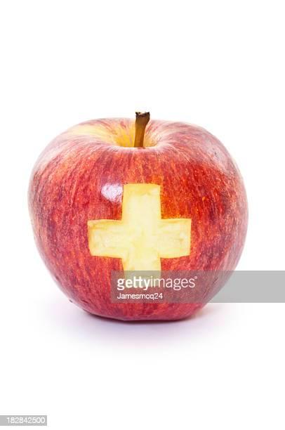 Apfel mit Cross