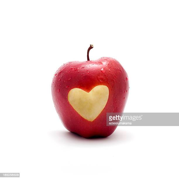 apple with love symbol on it