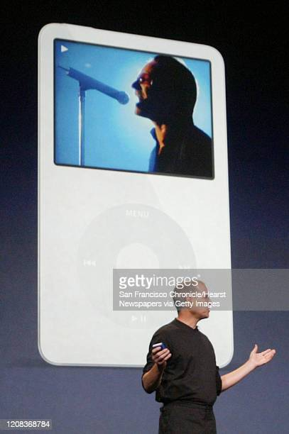 APPLE_0034_fljpg Apple unveiled its muchanticipated video iPod Wednesday along with a slew of additional products and deals that included a content...