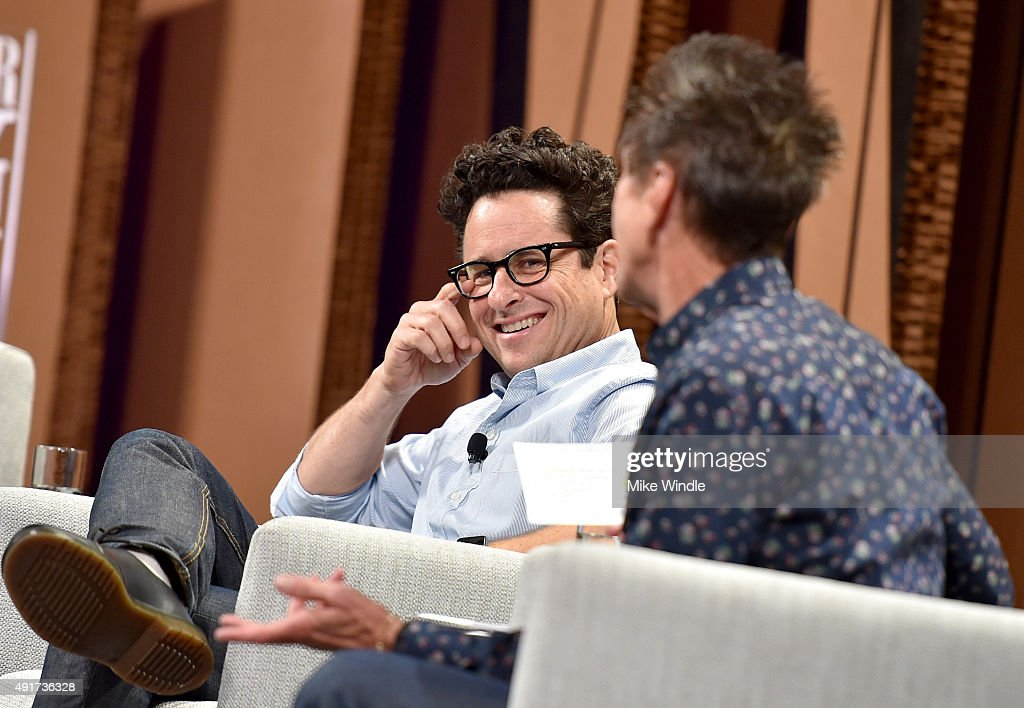 AppleChief Design Officer Jonathan Ive (L) and filmmaker J. J. Abrams speak onstage during 'Changing Worlds, Inventing Worlds' at the Vanity Fair New Establishment Summit at Yerba Buena Center for the Arts on October 7, 2015 in San Francisco, California.