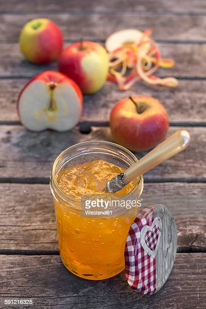 Apples and homemade apple jam