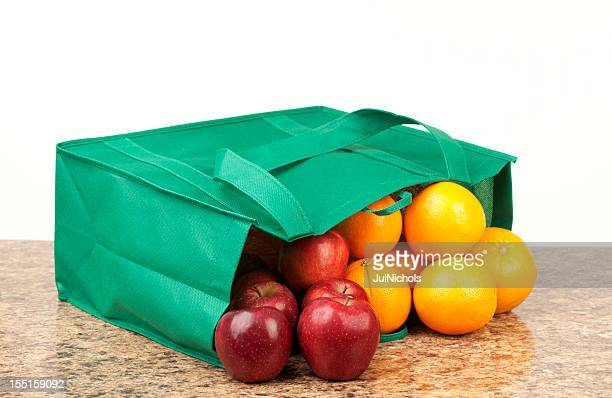 Apples and Oranges in Shopping Bag