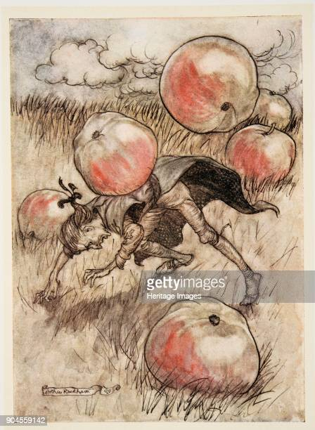 Apples Came Tumbling about my Ears from Gulliver's Travels by Jonathon Swift pub 1909