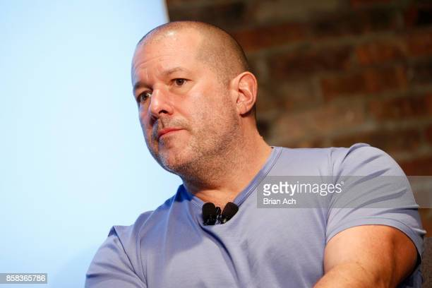 Apple's Cheif Design OfficerJony Ive speaks onstage during the 2017 New Yorker TechFest at Cedar Lake on October 6 2017 in New York City