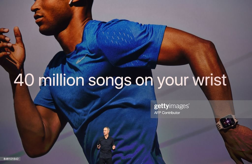 Apple's Chief Operating Officer Jeff Williams speaks during a media event at Apple's new headquarters in Cupertino, California on September 12, 2017. / AFP PHOTO / Josh Edelson