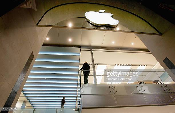 Apple's first European store on the eve of its opening in Regent Street on November 19 2004 in London England The flagship store opens its doors to...