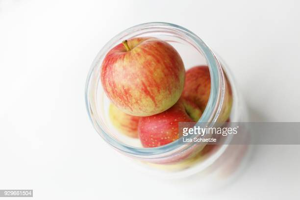 apples in a jar - ripe stock pictures, royalty-free photos & images