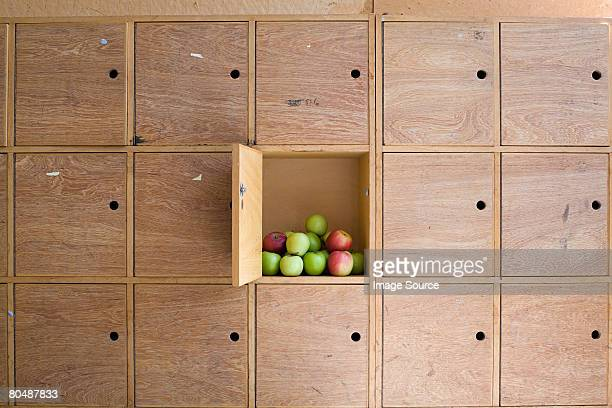 Apples in a locker