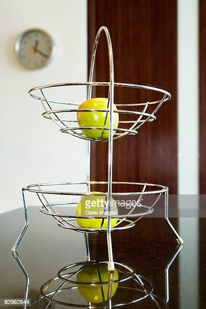 Apples in a rack