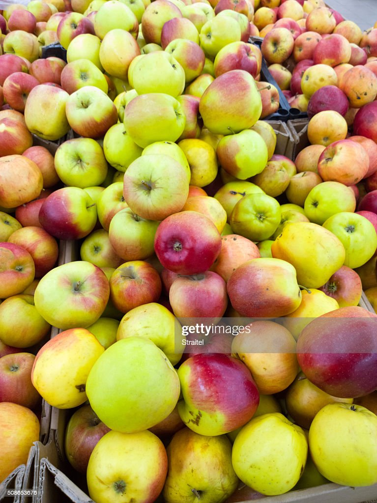 Apples in a supermarket. : Stock Photo