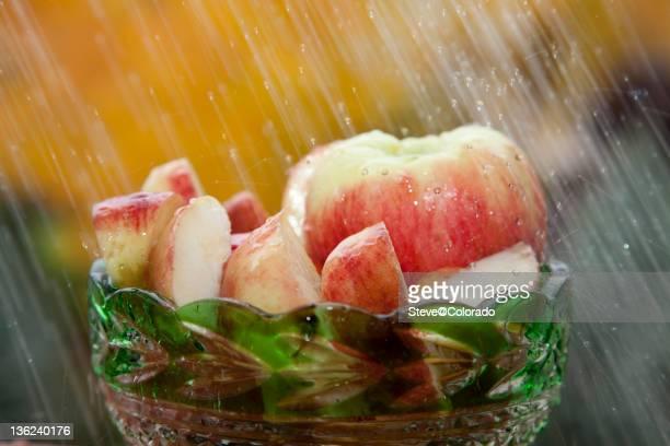 Apples in the Rain
