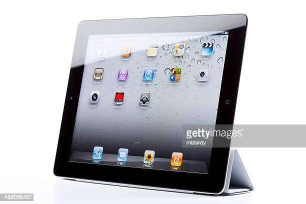 Apple iPad2 de inteligente, isolado, com tampa
