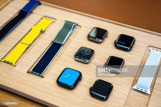 Apple's new Apple Watch Series 5 displayed at an Apple retail store at the IFC Mall in Pudong New Area, Shanghai.