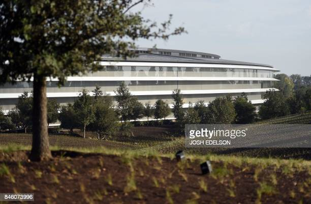 Apple's new headquarters building is seen ahead of a media event where Apple is expected to announce a new iPhone and other products in Cupertino...