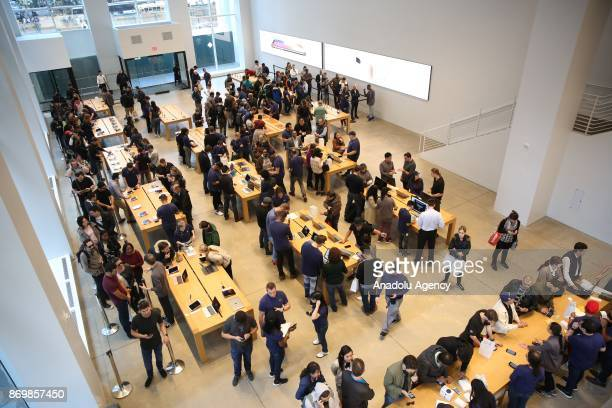 Apple's New iPhone X goes on sale at an Apple Store to buy Apple's New iPhone X in Manhattan New York in Manhattan of New York United States on...