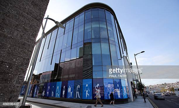 Apple's new offices on Half Moon Street in Cork city centre, southern Ireland on October 2, 2014. Perched on top of a hill overlooking the Irish city...