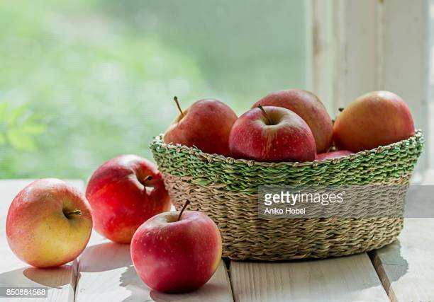 Apples on the window sill